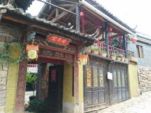 Residential building in Yunnan, China royalty free stock image