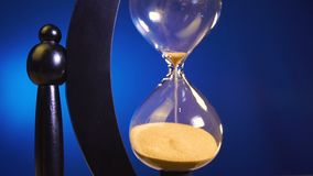 There is very little time to turn an hourglass and the countdown begins stock video