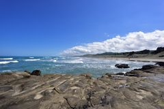 Ocean and waves New Zealand Royalty Free Stock Image