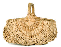 There is a wicker basket Stock Images