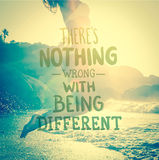 Theres nothing wrong with being different vector Stock Photos