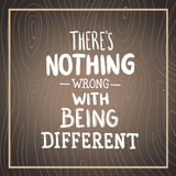 Theres nothing wrong with being different vector Stock Images