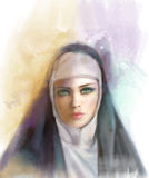 Theresa of Avila. Portrait digital. Stock Image