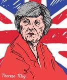 Theresa Mary May, député britannique, premier ministre du Royaume-Uni et chef du Parti conservateur Images libres de droits