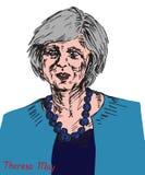 Theresa Mary May, député britannique, premier ministre du Royaume-Uni et chef du Parti conservateur Image stock