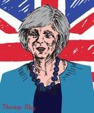 Theresa Mary May, MP, Eerste minister van het Verenigd Koninkrijk en Leider van de Conservatieve Partij Stock Foto's