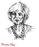 Theresa Mary May, mp, Primo Ministro del Regno Unito e capo del partito conservatore Fotografia Stock Libera da Diritti