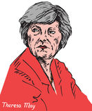 Theresa Mary May, mp, Primo Ministro del Regno Unito e capo del partito conservatore illustrazione di stock