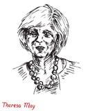 Theresa Mary May, P.M., primer ministro del Reino Unido y líder del partido conservador Foto de archivo libre de regalías