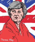 Theresa Mary May, P.M., primer ministro del Reino Unido y líder del partido conservador Imágenes de archivo libres de regalías