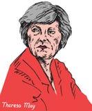 Theresa Mary May, PM, primeiro ministro do Reino Unido e líder do partido conservador Foto de Stock