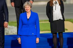 Theresa May premiärminister av UK royaltyfri fotografi