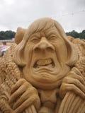 Theresa May Sand Sculpture Photo stock