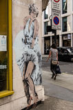 Theresa May street art, London Royalty Free Stock Photos