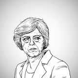 Theresa May. Vector Illustration Portrait of Prime Minister of United Kingdom. April 21, 2018 royalty free illustration