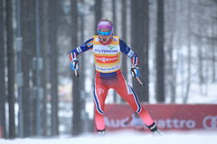 Therese Johaug - διαγώνιο να κάνει σκι χωρών Στοκ εικόνα με δικαίωμα ελεύθερης χρήσης