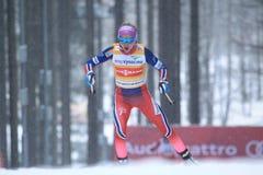 Therese Johaug - esquí del campo a través Imagen de archivo libre de regalías