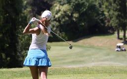 Therese Larsson bij de Fourqueux-Open golfdames Royalty-vrije Stock Foto's