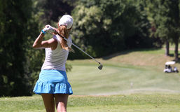 Therese Larsson at the Fourqueux golf Ladies Open Royalty Free Stock Photos