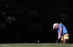 Therese Larsson på de Fourqueux golfdamerna öppnar Arkivbilder