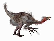 Therizinosaurus Dinosaur Side Profile Stock Image