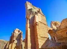 Thermae van Caracalla stock afbeeldingen