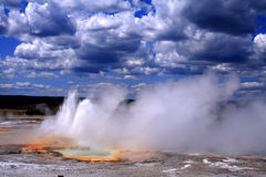 Thermal Activity. In Yellowstone National Park, Wyoming Stock Photography