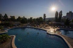 Thermal aqua park Stock Photo