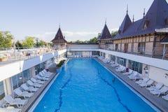Thermal Aqua park in Romania Stock Photo