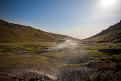 Thermal areas in the mountains of Iceland. Scandinavia, Europe Royalty Free Stock Image