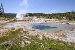 Thermal Basin Panorama Royalty Free Stock Photos