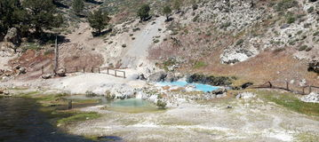 Thermal bath in California stock image