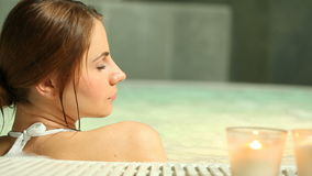 Thermal bath at spa club stock video