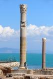 Thermal baths of Antonin at Carthage stock photos