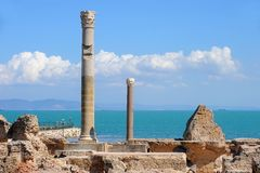 Thermal baths of Antonin at Carthage Royalty Free Stock Images