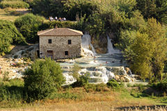 Thermal baths at Saturnia (Tuscany, Italy) Royalty Free Stock Images
