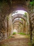 Thermal baths. Of the sector of Sosandra in the Archaeological park of Baia stock images