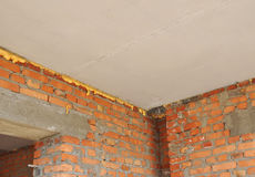 Free Thermal Bridging: Home Insulation & Reduced Heat Loss Indoor For Energy Saving. Prevent Thermal Bridging. Royalty Free Stock Photography - 82872597