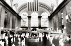 Thermal Camera. Thermal / infrared / IR camera style image at Grand Central Station in New York Royalty Free Stock Image