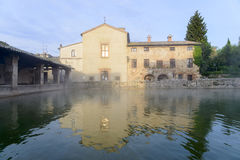 Thermal city of Bagno Vignoni Royalty Free Stock Photography