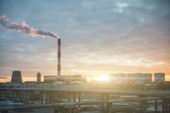 thermal för centralvärmeväxtström Fotografering för Bildbyråer