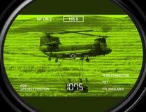 Thermal gun sight on target Stock Image