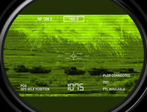 Thermal gun sight on target Stock Photography