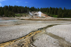 Thermal hot springs in Yellowstone National Park Royalty Free Stock Images