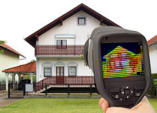 Thermal Image of the House Royalty Free Stock Photos
