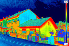 Thermal image on House Royalty Free Stock Photos