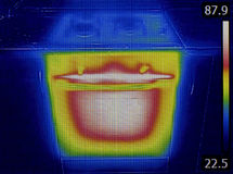 Thermal Image Oven Stock Photo