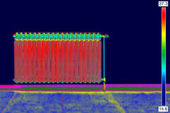 Thermal Image of Radiator Heater Royalty Free Stock Photography