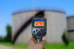 Thermal imaging. Camera of a tank Royalty Free Stock Photos