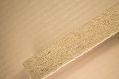 Thermal insulating compressed hemp fiber panel Royalty Free Stock Image